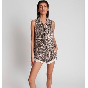 ONE TEASPOON Animal Zip Through Braxton Jumpsuit
